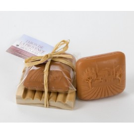 Bio soap of perfumed red clay to the forest of the Provence (75 g)