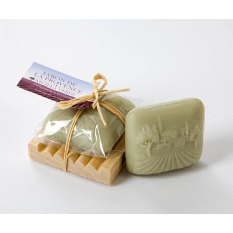 Jabón bio de arcilla verde perfumada a la menta