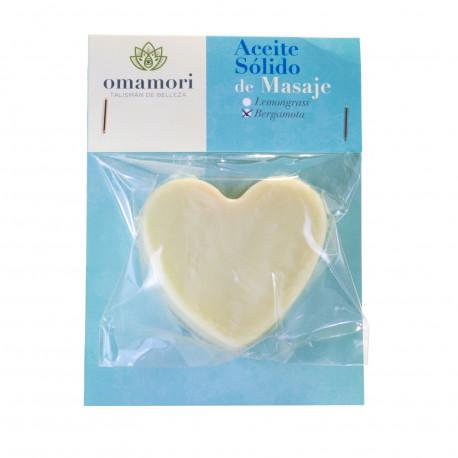 Aceite Sólido Natural de Masaje Bergamota (70 g)